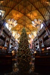 The Christmas tree at the Animal Kingdom Lodge.