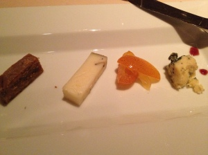 A half-eaten cheese plate. Sorry - it was really good cheese!