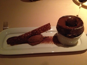 Hawaiian Kona chocolate souffle.